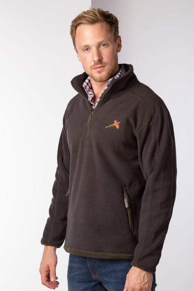 Brown - Rydale Half Zip Shooting Fleece