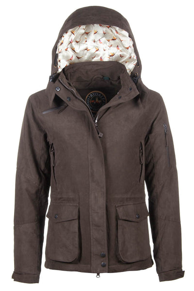 Hooded Pheasant Lined Country Coat For Ladies