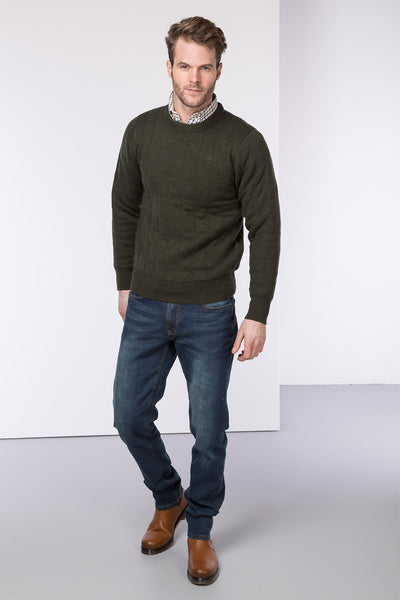 Olive - Quilted Shooting Sweater