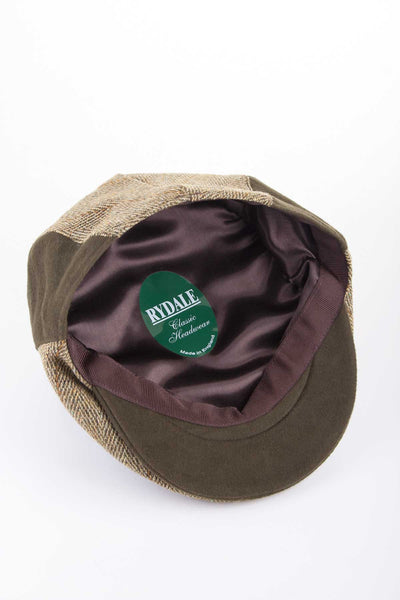 Light Check - Moleskin Trim Flat Cap