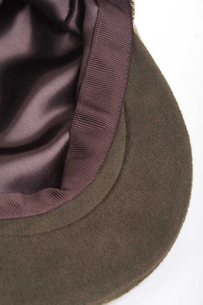 Light Check - Moleskin Trim Tweed Cap