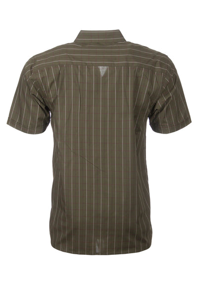 Grassington Olive - Short Sleeved Country Check Shirts