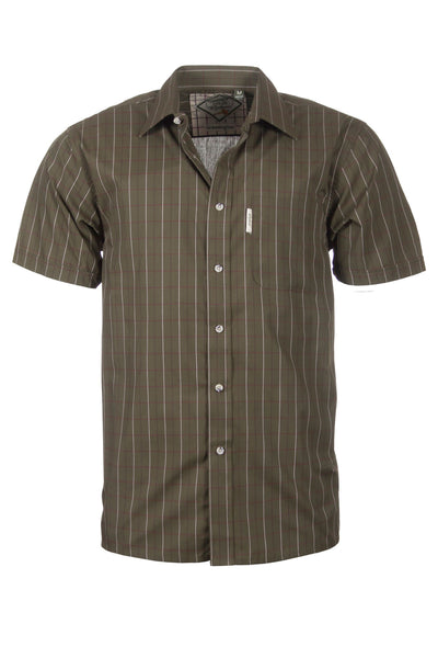 Grassington Olive - Mens Easy Care Short Sleeved Shirt