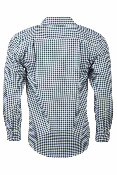 Green Gingham - Mens Country Checked Shirts