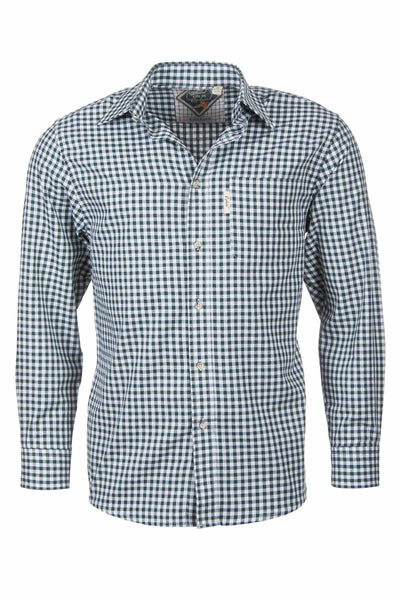Green Gingham - Mens Kirkburn Shooting Shirts
