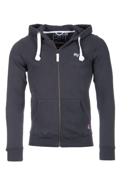 Dark Charcoal - Rydale Mens Full Zip Hoody