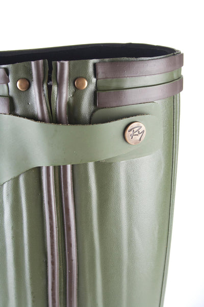 Dk Olive - Mens Zip Up Country Wellies