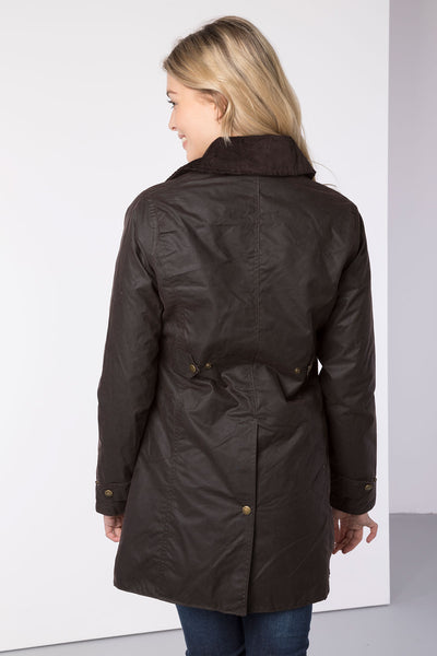 Brown - Hannah II 3/4 Wax Jacket