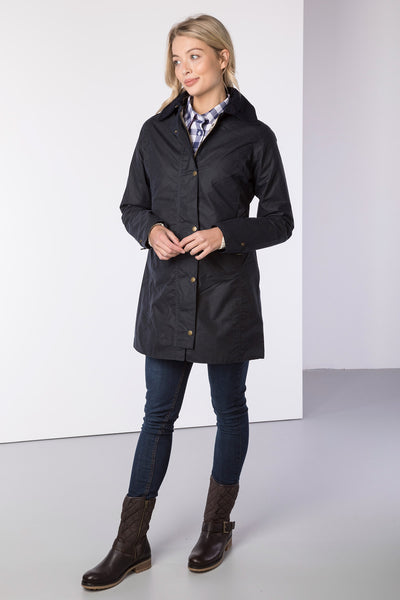 Navy - Hannah II 3/4 Wax Jacket