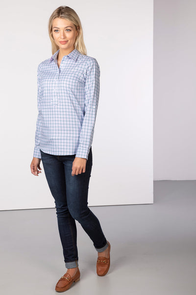 Blue - Hannah Country Overhead Shirt - Ellie II