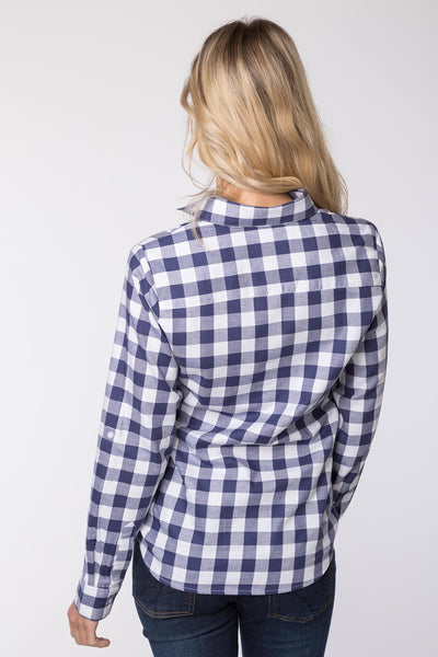 Navy - Hannah Country Overhead Shirt - Holly II