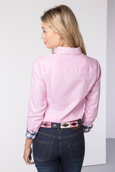 Gingham Pink - Ladies Check Shirt