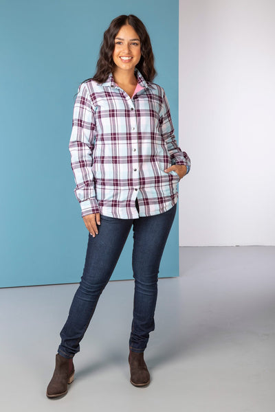 Berry - Hannah Fleece Lined Shirt