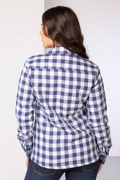 Navy - Hannah Fleece Lined Shirt