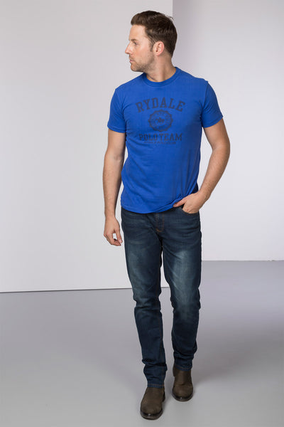 Admiral Blue - Mens Harry Polo Club T-Shirt