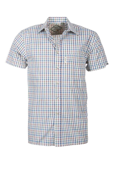 Harvest Light Check - Mens Easy Care Short Sleeved Shirt
