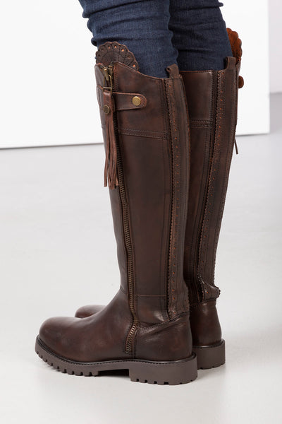 Brown - Haworth Tall Leather Country Boot