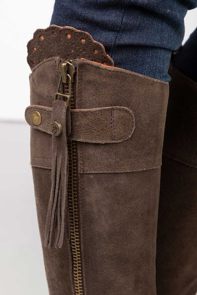 Chocolate - Haworth Tall Suede Country Boot