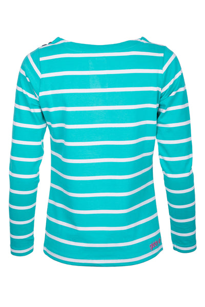 Aqua - Ladies Haxby Hooped T-Shirt