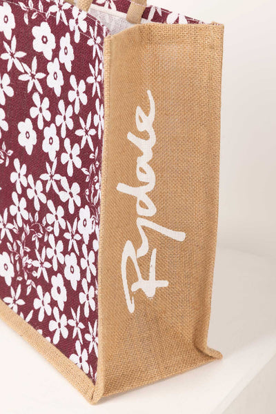 Ditsy Berry - Hessian Printed Shopping Bag