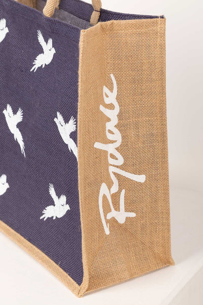 Flying Pheasant - Hessian Printed Shopping Bag