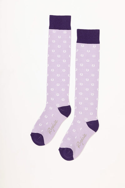Lilac - Horse Shoe Knee Length Socks