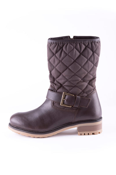 Brown - Hutton Quilted Short Boots