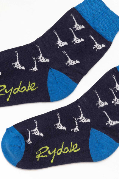 Pheasant/Navy - Junior Ankle Socks