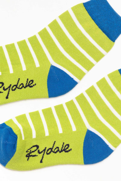 Striped/Lime - Junior Ankle Socks