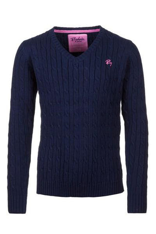 Junior Cable Knit V Neck Jumper