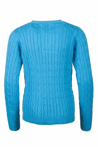 Sky Blue - Junior Cable Knit Sweater