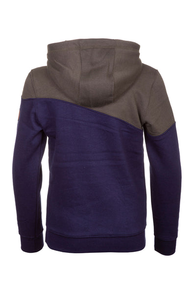 Khaki/Navy - Junior Jonty Hooded Sweatshirt
