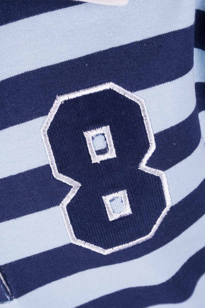 Icicle/Navy Stripe - Junior Long Sleeved Rugby Shirt