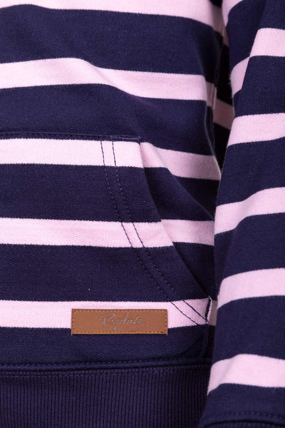 Navy/Sorbet - Junior Lucy Striped Hoody