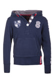 Navy - Rugby Patch Hoody