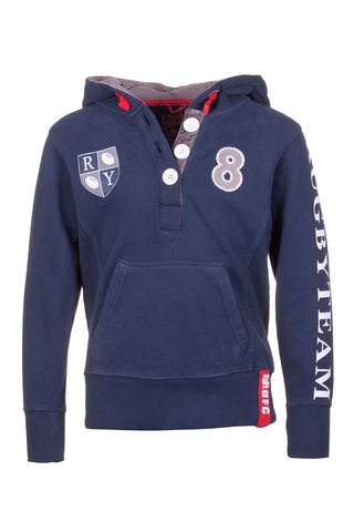 Boys Rugby Badge Hoody