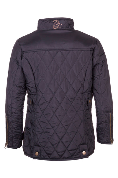 Black - Junior Soft Quilt Biker Babe Jacket