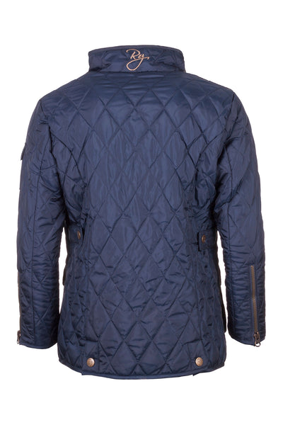Navy - Junior Soft Quilt Biker Babe Jacket