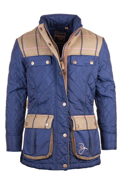 Navy - Rydale Soft Quilted Biker Babe Jacket