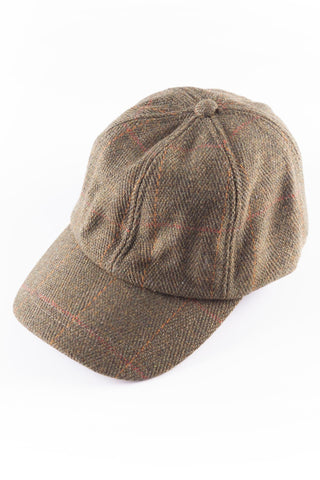 Junior Tweed Baseball Cap with Tweed Peak