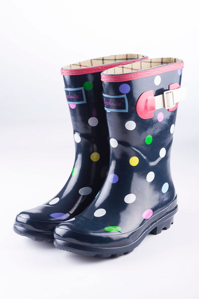 Polka Dot - Junior Wellingtons