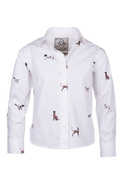 Country Dog White - Children's Wistow Printed Shirt