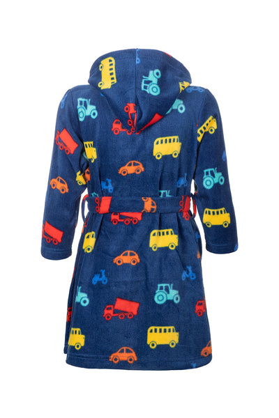 Automobile Navy - Kid's Dressing Gown