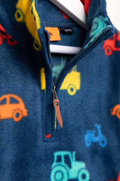 Automobile Navy - Children's Overhead Fleece - Frankie