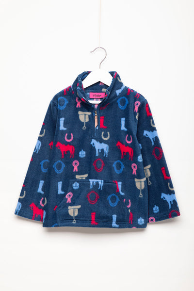 Pony Navy - Children's Overhead Fleece - Frankie