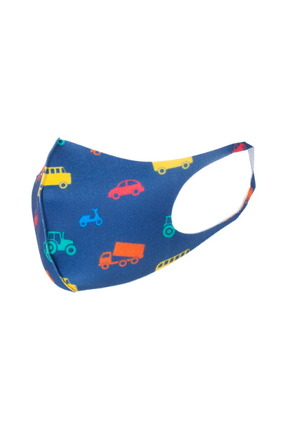 Automobile Navy - Kid's Patterned Face Mask