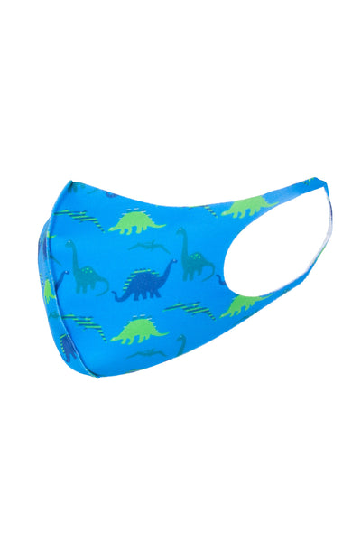 Dinosaur Blue - Kid's Patterned Face Mask