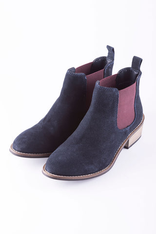 Navy - Ladies Kirby II Heeled Boots