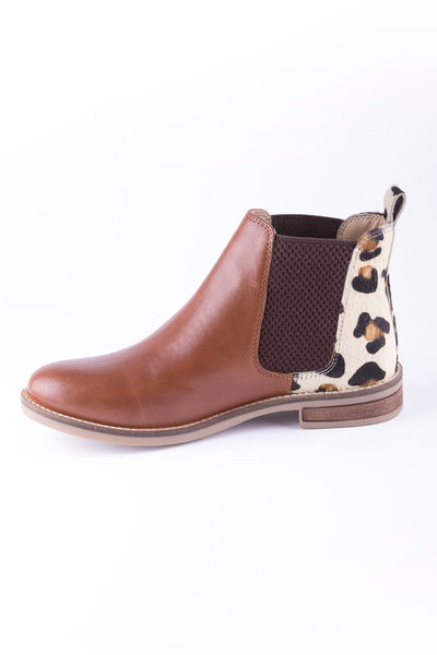 Cognac/Animal - Ladies Kirby Leather Boot