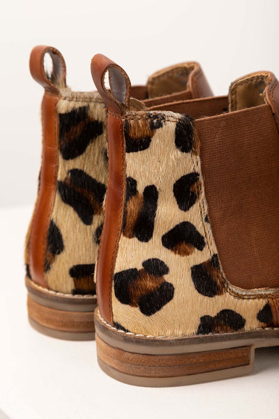 Cognac/Animal - Kirby Leather Chelsea Boot Limited Edition